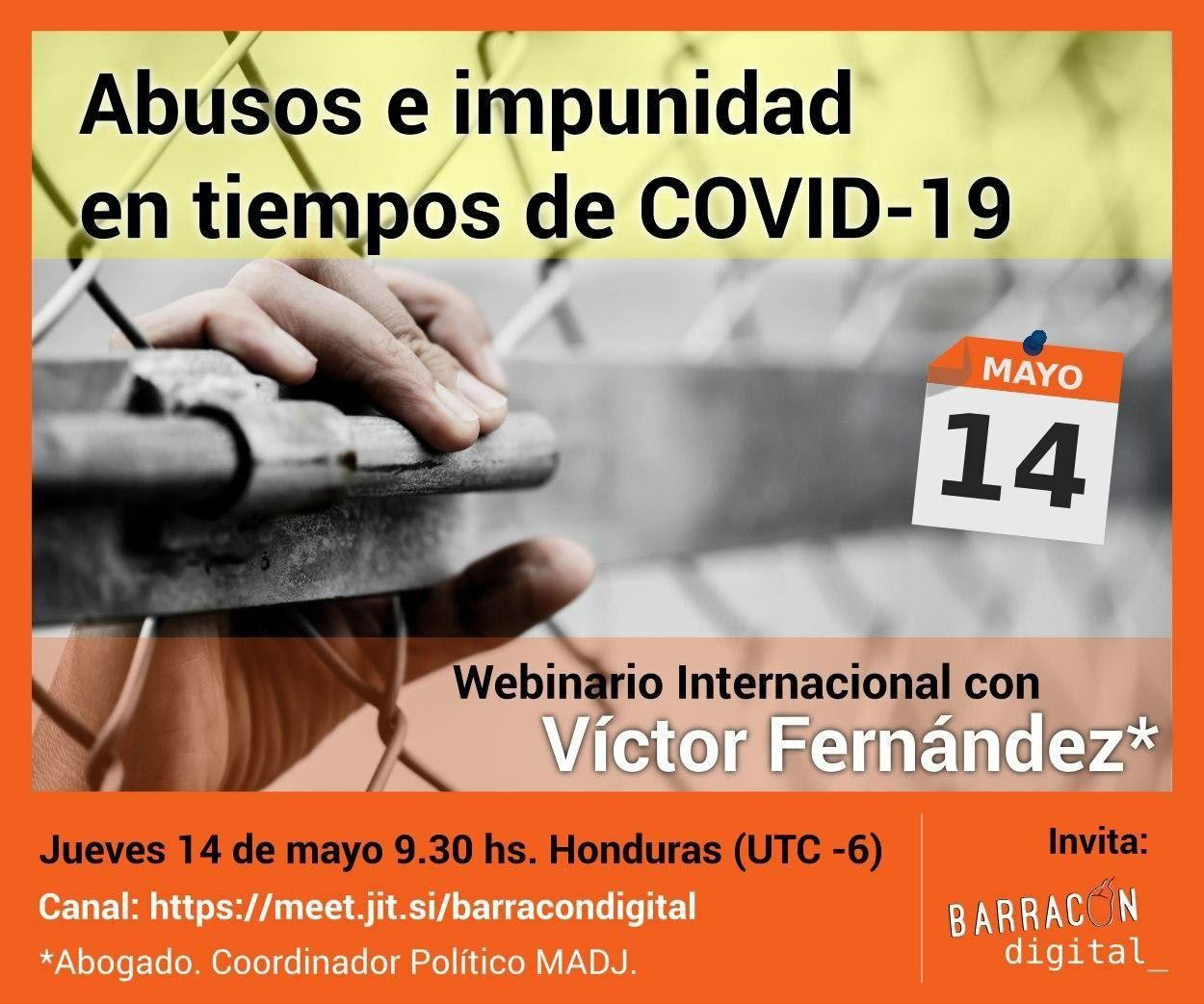 Webinar Internacional: Abusos e impunidad en tiempos de COVID-19
