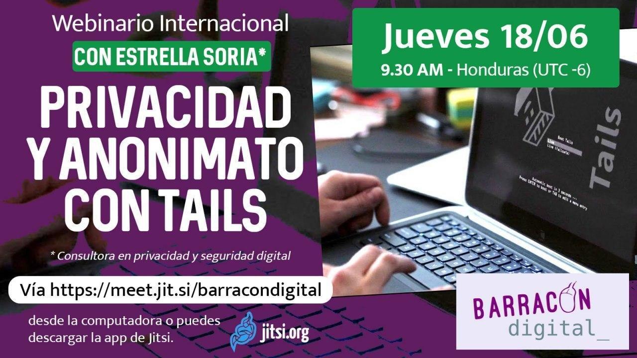 Webinar Internacional: Privacidad y Anonimato Con Tails
