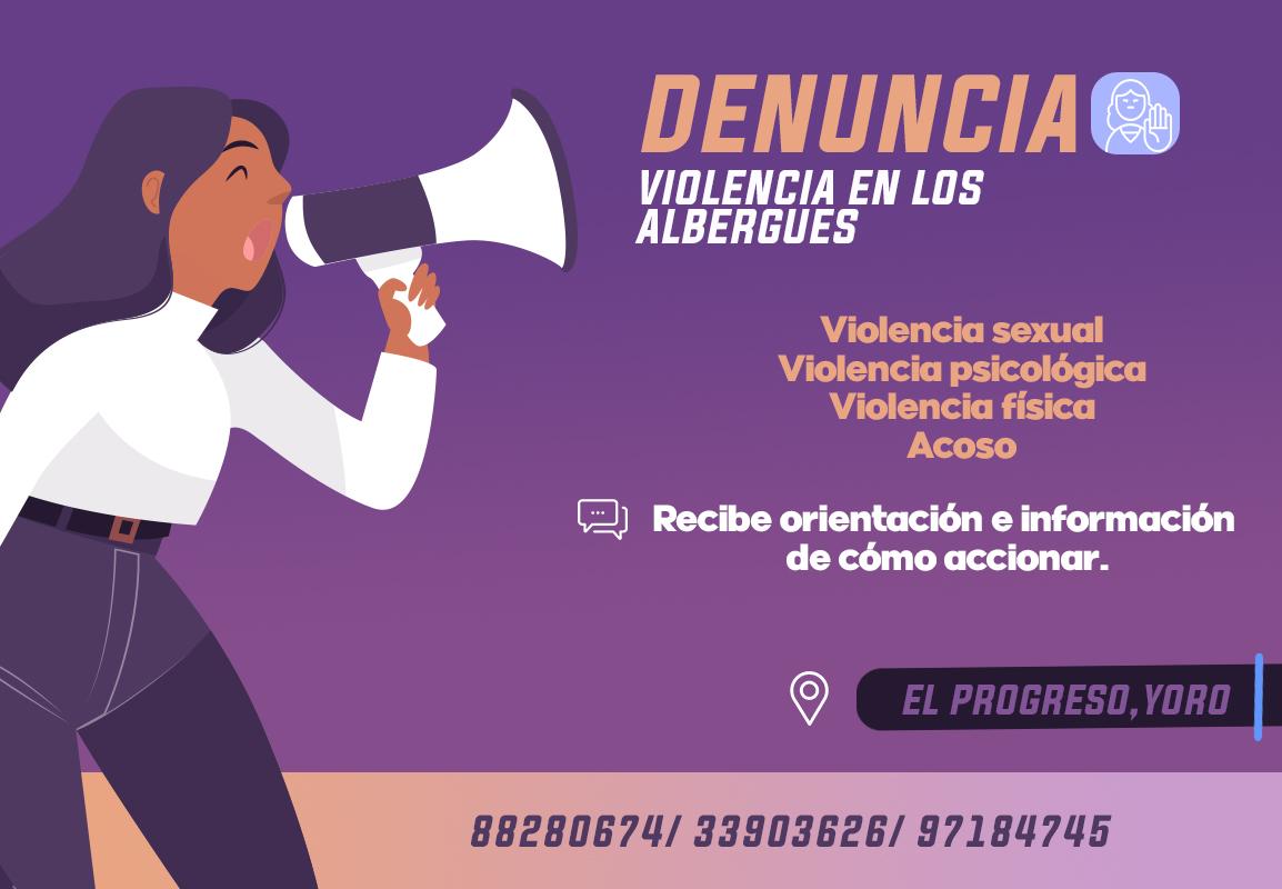 DENUNCIA VIOLENCIA EN LOS ALBERGUES